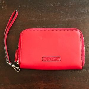 NWOT Vera Bradley Red Leather Wristlet